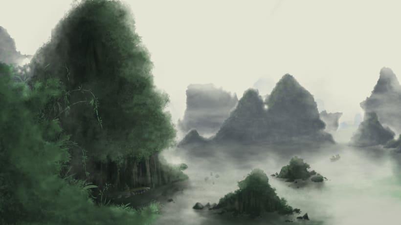 Digital paintinga. Land scape. 0