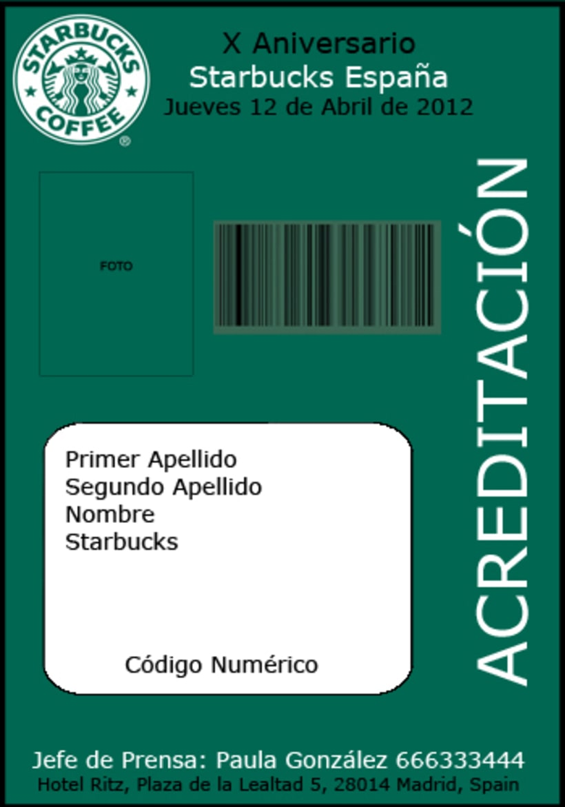 Acreditaciones Ficticias Aniversario Starbucks Spain -1
