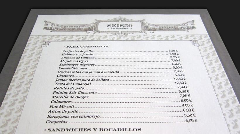 Carta Restaurante 650 La Moraleja -1