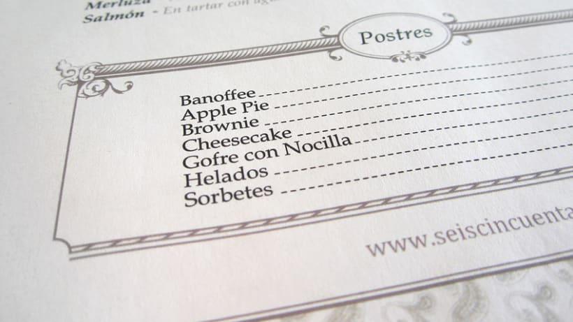 Carta Restaurante 650 La Moraleja 0