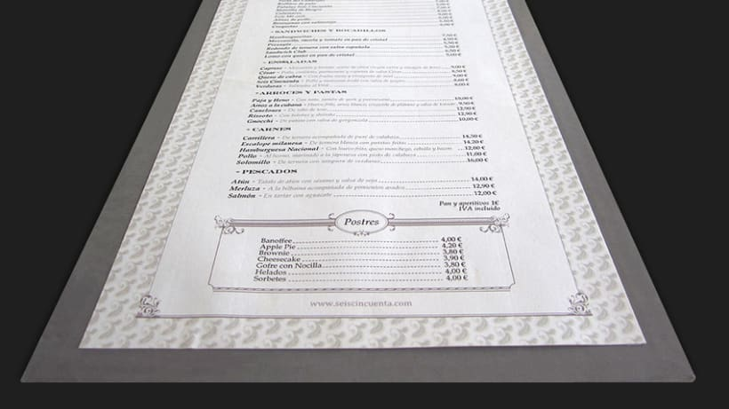 Carta Restaurante 650 La Moraleja 1