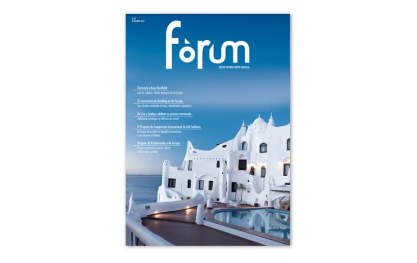 REVISTA FORUM -- DISEÑO, DIRECCION DE ARTE Y MAQUETACION -1