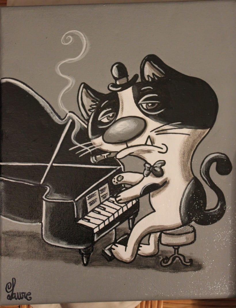 Gato Jazz collection ( pintura) 2