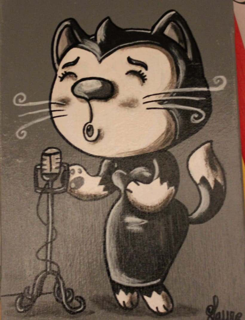 Gato Jazz collection ( pintura) 3