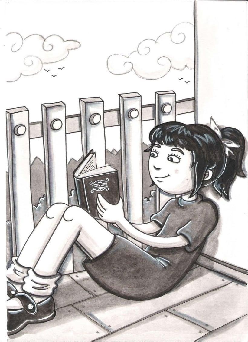 la dona dels llibres ( Cuento ilustrado) 2