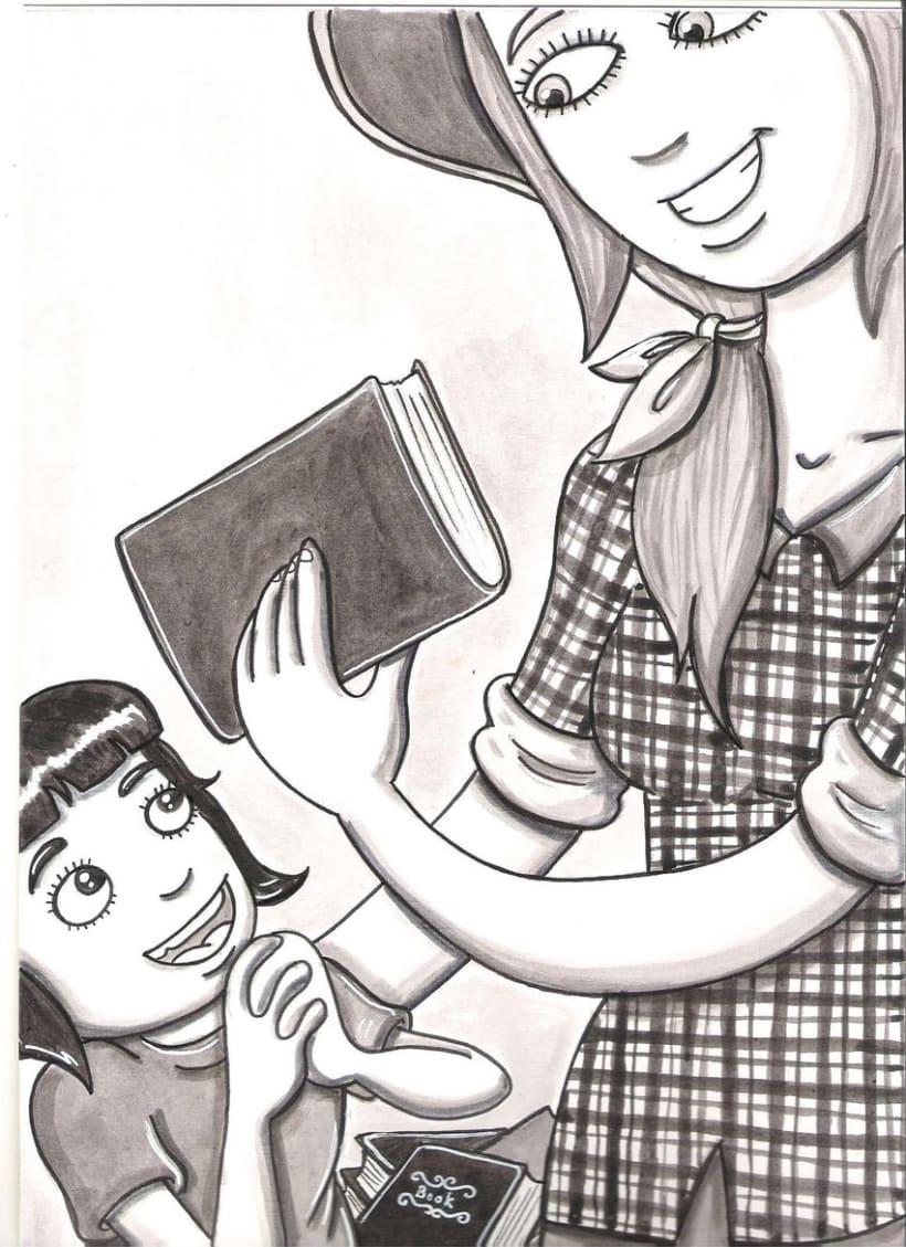 la dona dels llibres ( Cuento ilustrado) 3