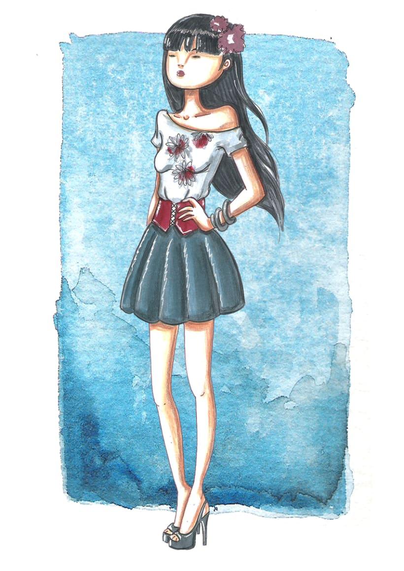 ilustracion de Moda 0