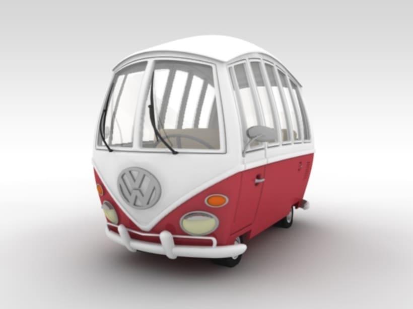 VW Cartoon Van 1