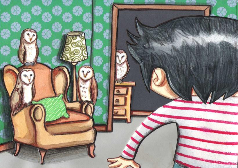 El niño lechuza ( Cuento ilustrado) 3