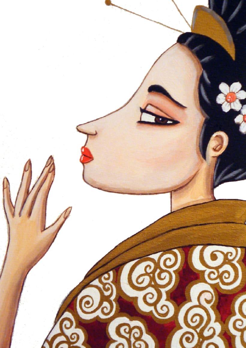 Geishas pintura 1