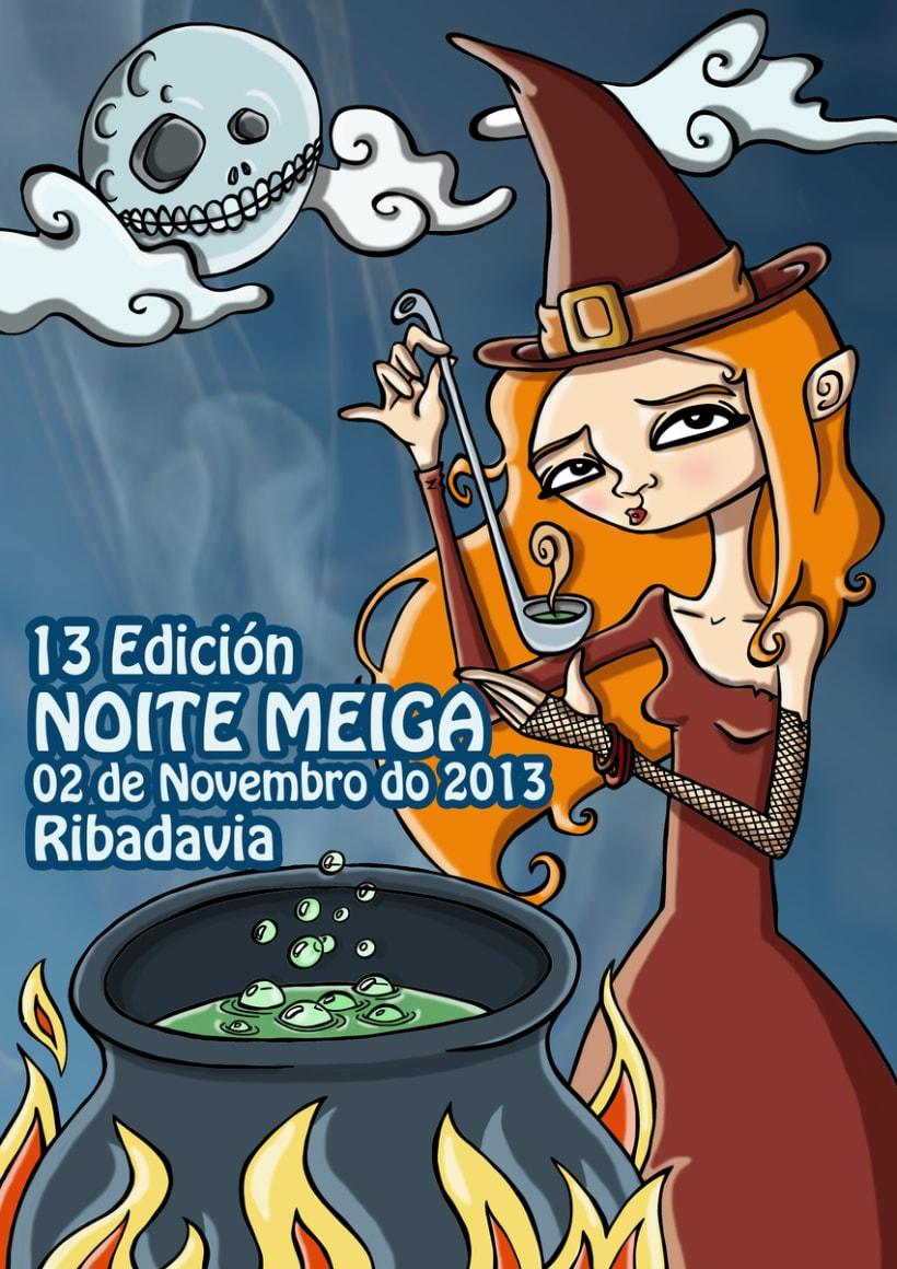 Cartel para el concurso NOITE MEIGA 0