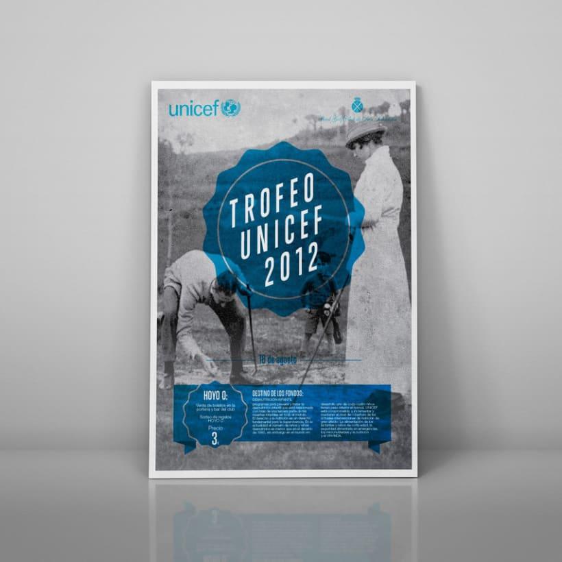 carteles Torneos a favor de Unicef 2012 2