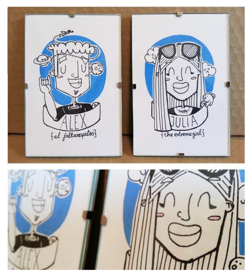 RETRATOONS Caricaturas personalizadas 100% a mano o digitales -1