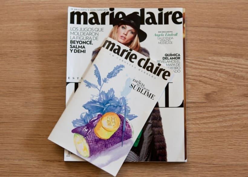 Marie Claire Magazine & Carolina Herrera 0