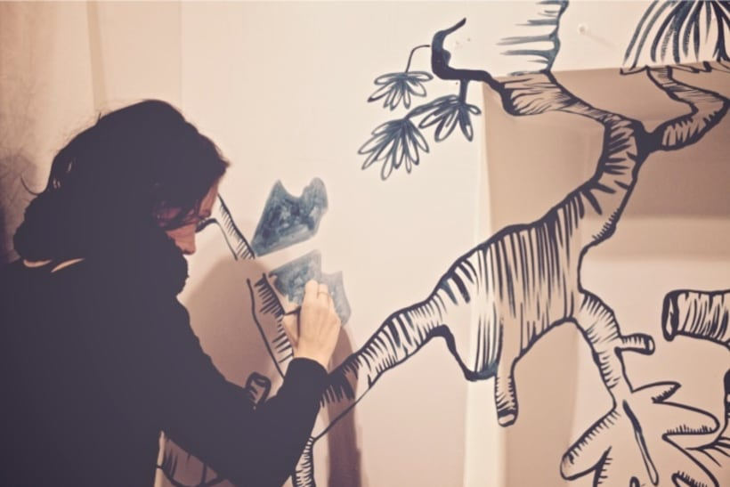 Mural en 'Fashion.cat' Store 2