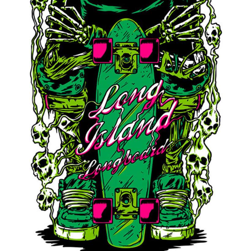 Ilustraciones para Long Island Longboards 4
