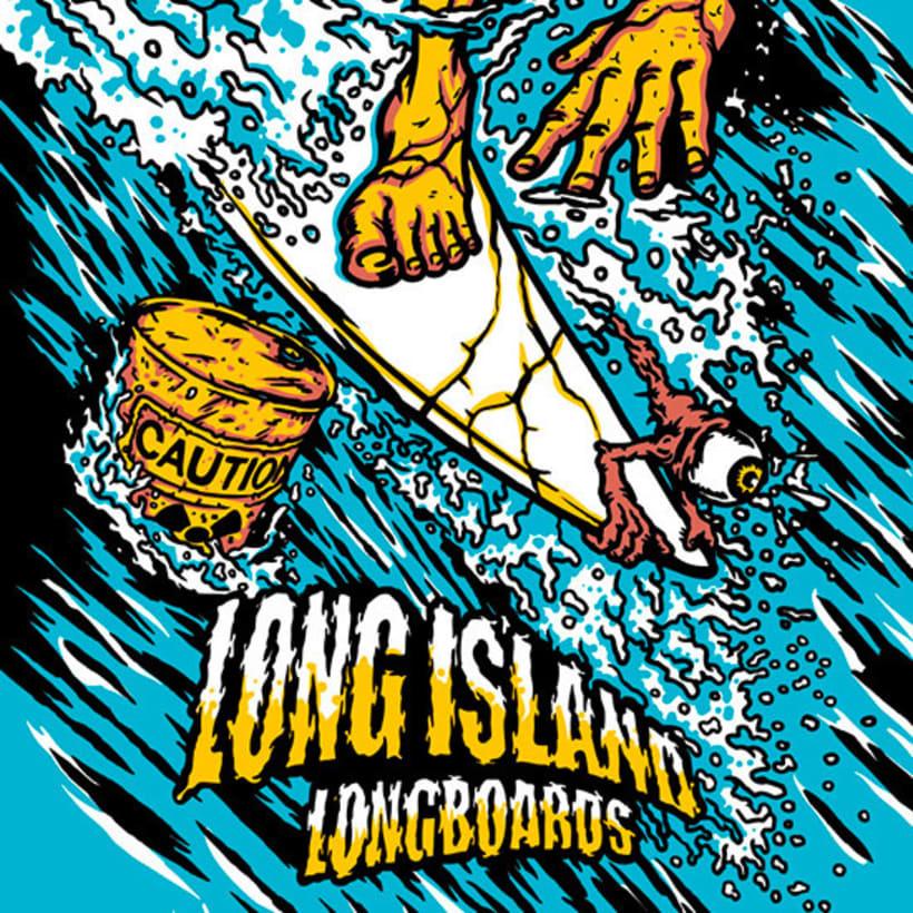 Ilustraciones para Long Island Longboards 5
