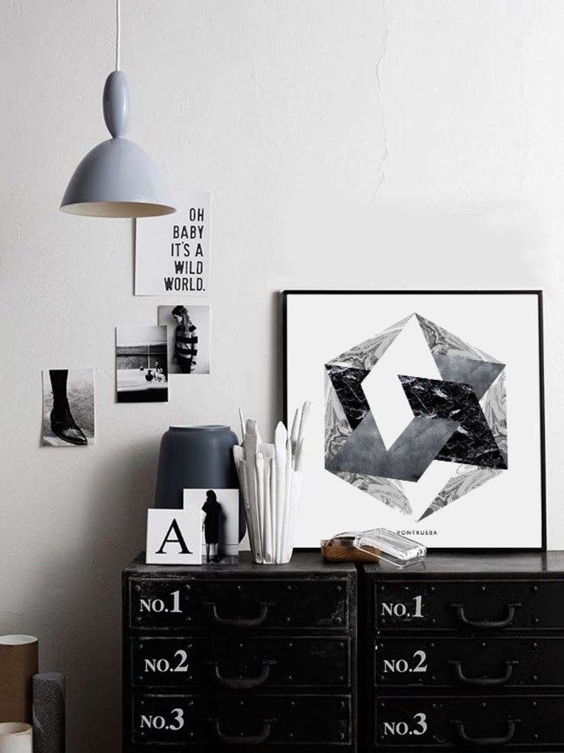 THE MATERIAL COLLECTION/ Artprints inspired in geometry and materials -1
