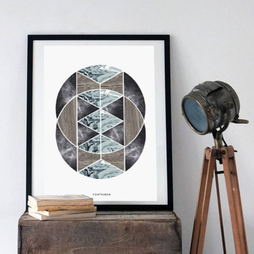 THE MATERIAL COLLECTION/ Artprints inspired in geometry and materials 3