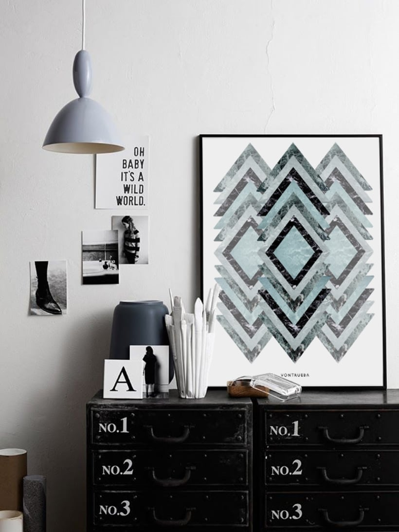 THE MATERIAL COLLECTION/ Artprints inspired in geometry and materials 7