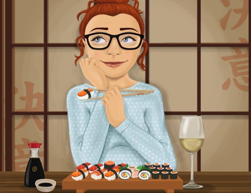 Sushi y Chocolate. Exposición personal 1