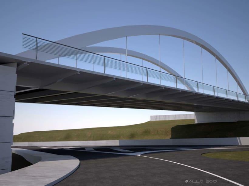 Puente sobre Alfonso Molina (proyecto Antonio J. Martín) -1
