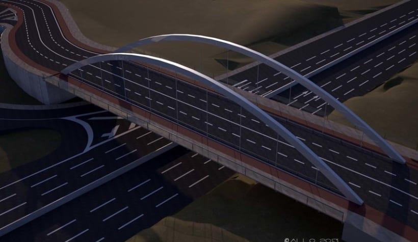 Puente sobre Alfonso Molina (proyecto Antonio J. Martín) 0