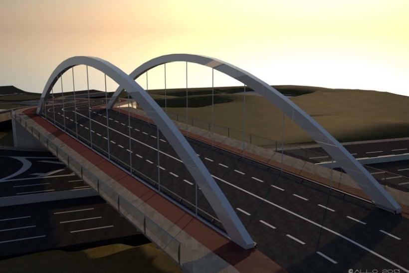Puente sobre Alfonso Molina (proyecto Antonio J. Martín) 3