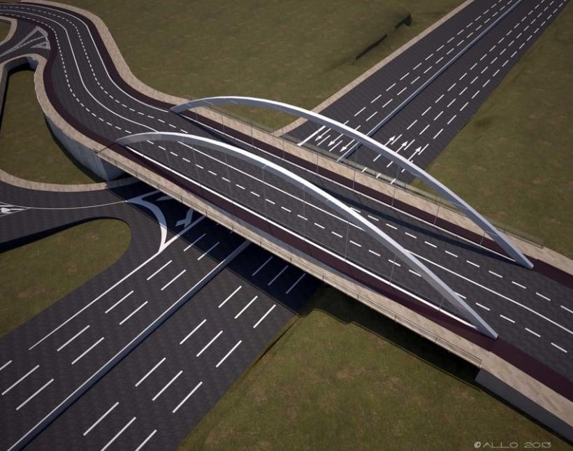 Puente sobre Alfonso Molina (proyecto Antonio J. Martín) 4