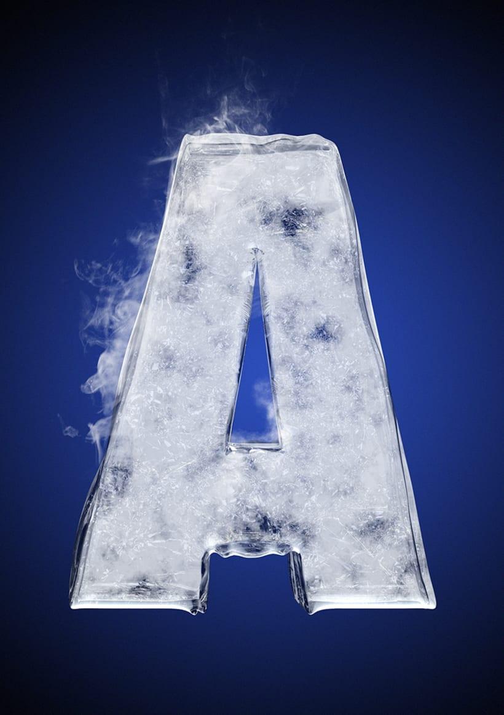 Tipografía helada para Nike 3