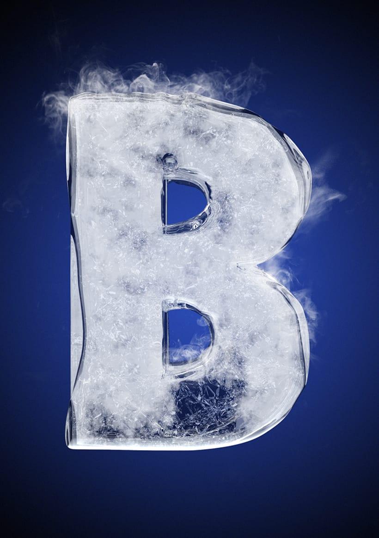 Tipografía helada para Nike 4