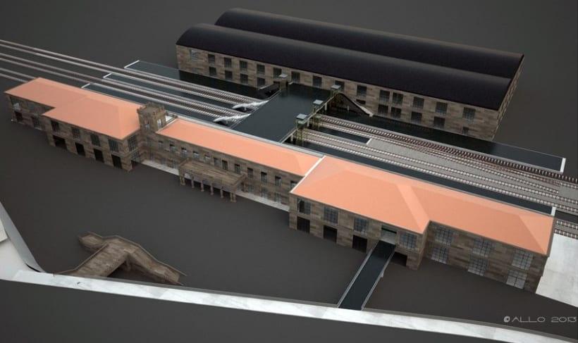 Estación Intermodal Santiago Compostela (proyecto de Guillermo Lorenzo) -1