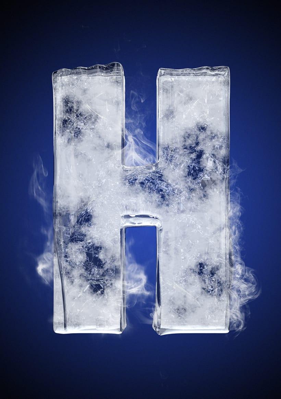 Tipografía helada para Nike 10