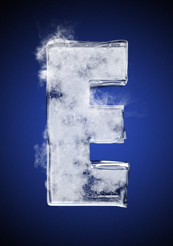 Tipografía helada para Nike 7