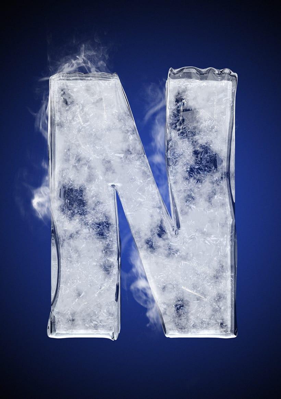 Tipografía helada para Nike 16