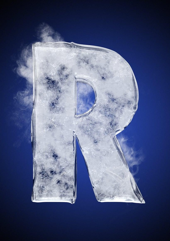 Tipografía helada para Nike 20