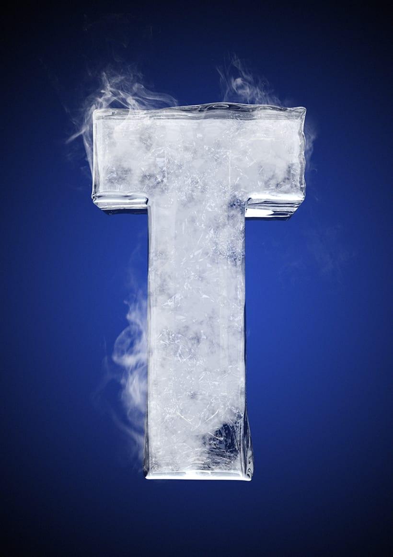Tipografía helada para Nike 22