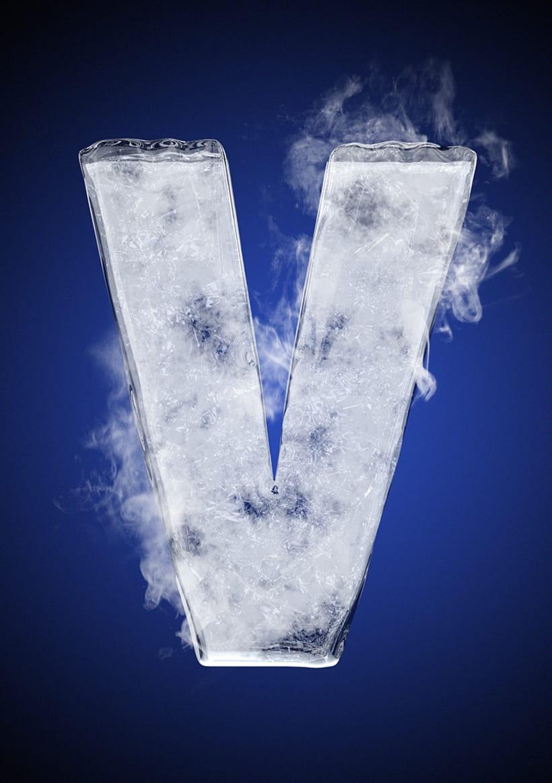Tipografía helada para Nike 24