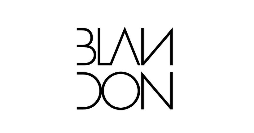 """""""Blandon"""" Identidad Corporativa, logotipo para línea de ropa masculina. 2"""