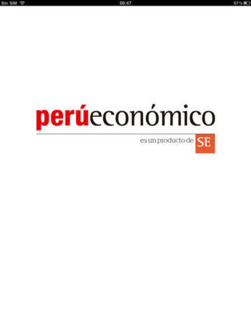 iOS (iPad): Perú Económico -1