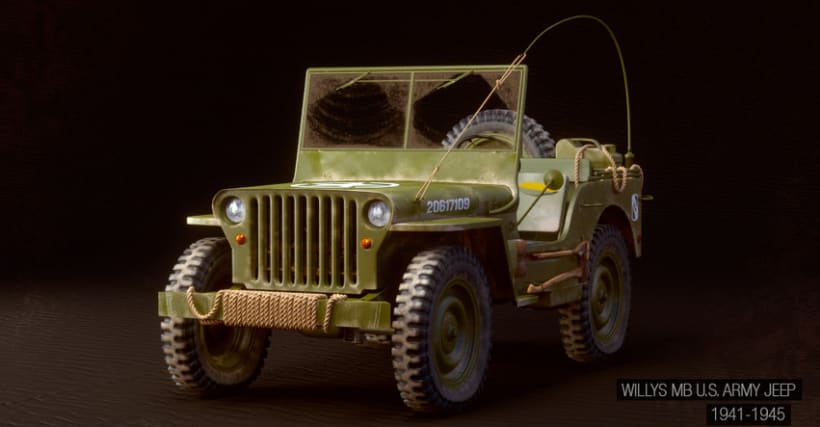 Willys MB US Army Jeep 7