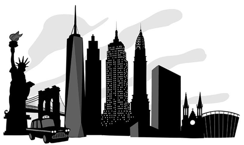 Black and white city skylines 1
