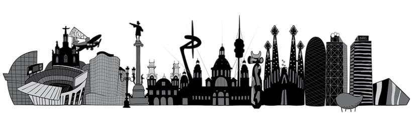 Black and white city skylines 2