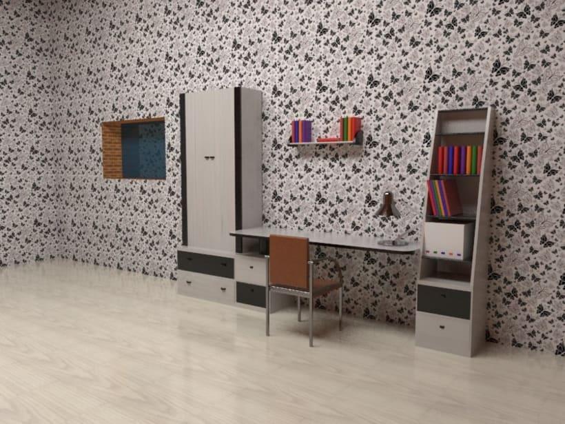 3D habitación plana -1