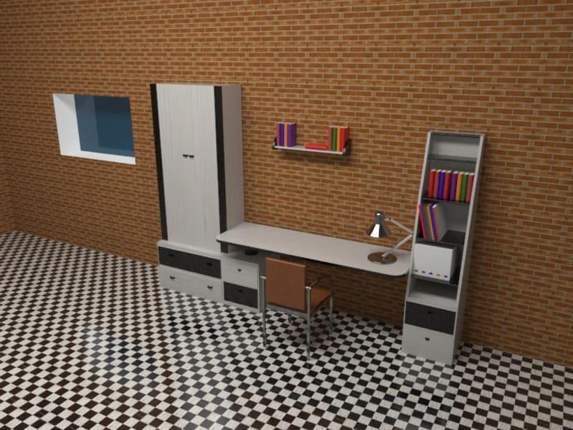 3D habitación plana 0