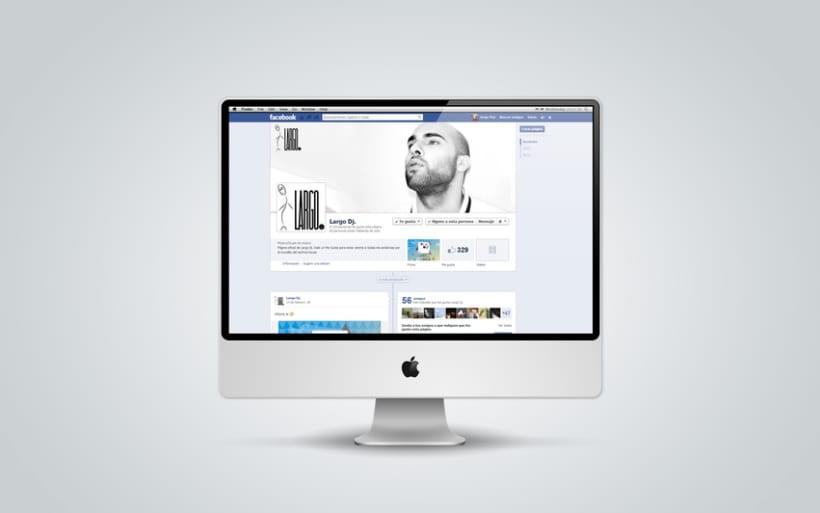 Branding, book y página de fans en Facebook para Largo dj 2