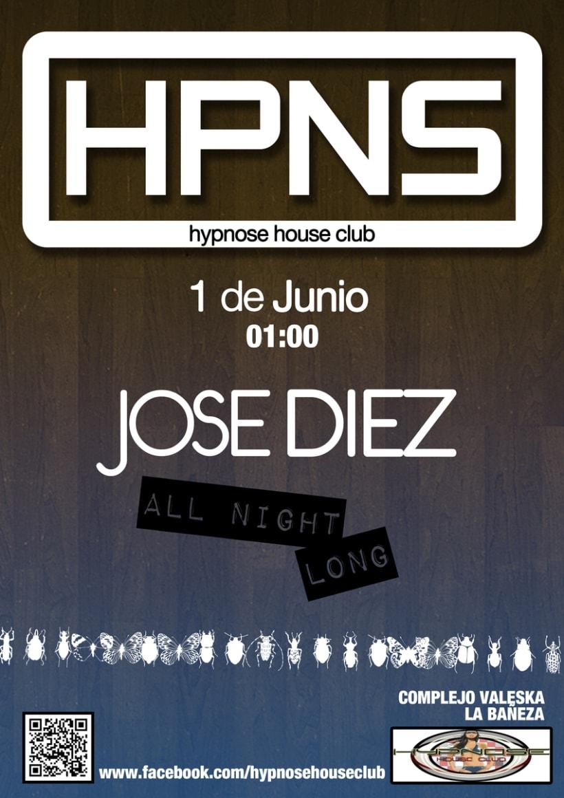 Cartelería Hypnose House Club 7