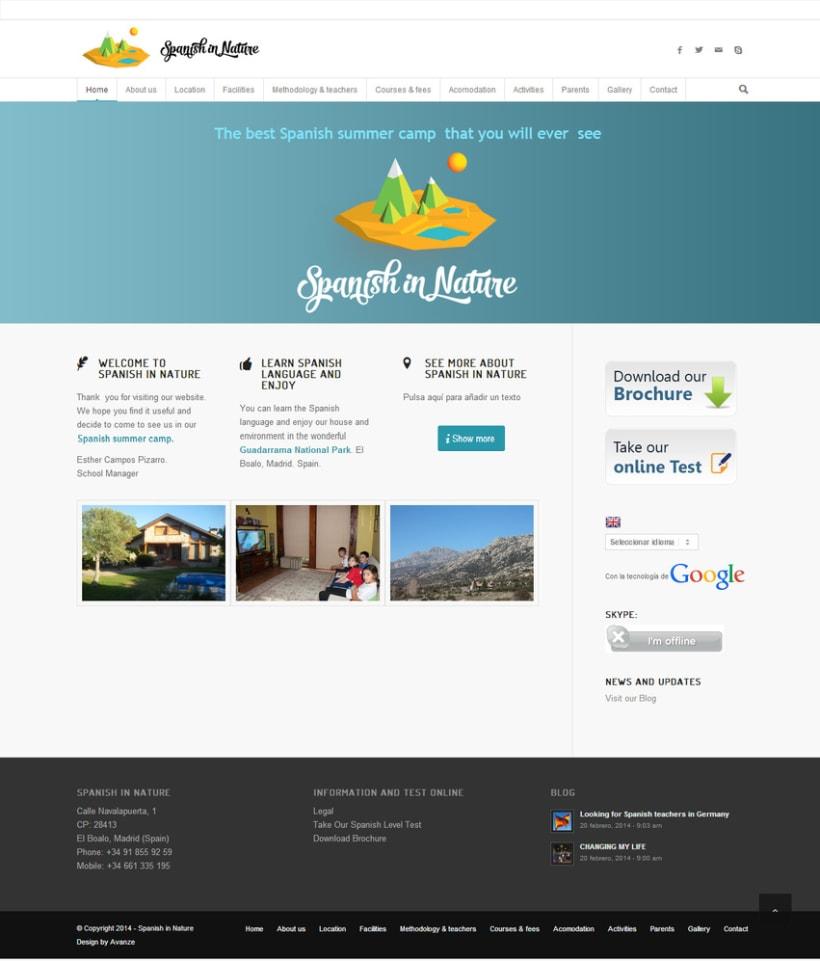 Responsive web design - Spanish in Nature -1