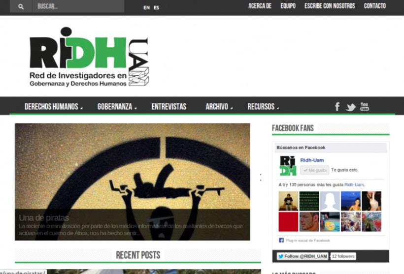 Web del Proyecto Red de Investigadores en Derechos Humanos (Fundación UAM) 0