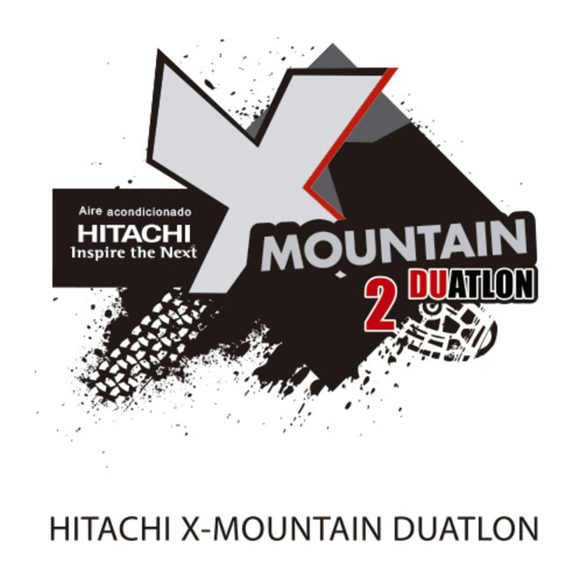 Logo Hitachi X-MOUNTAIN DUATLON-TRIATLON 1